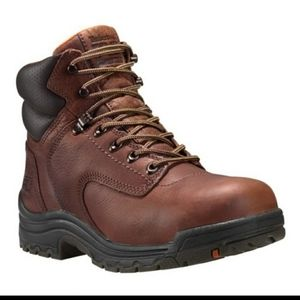 Womens Timberland Pro Work Boots brown leather